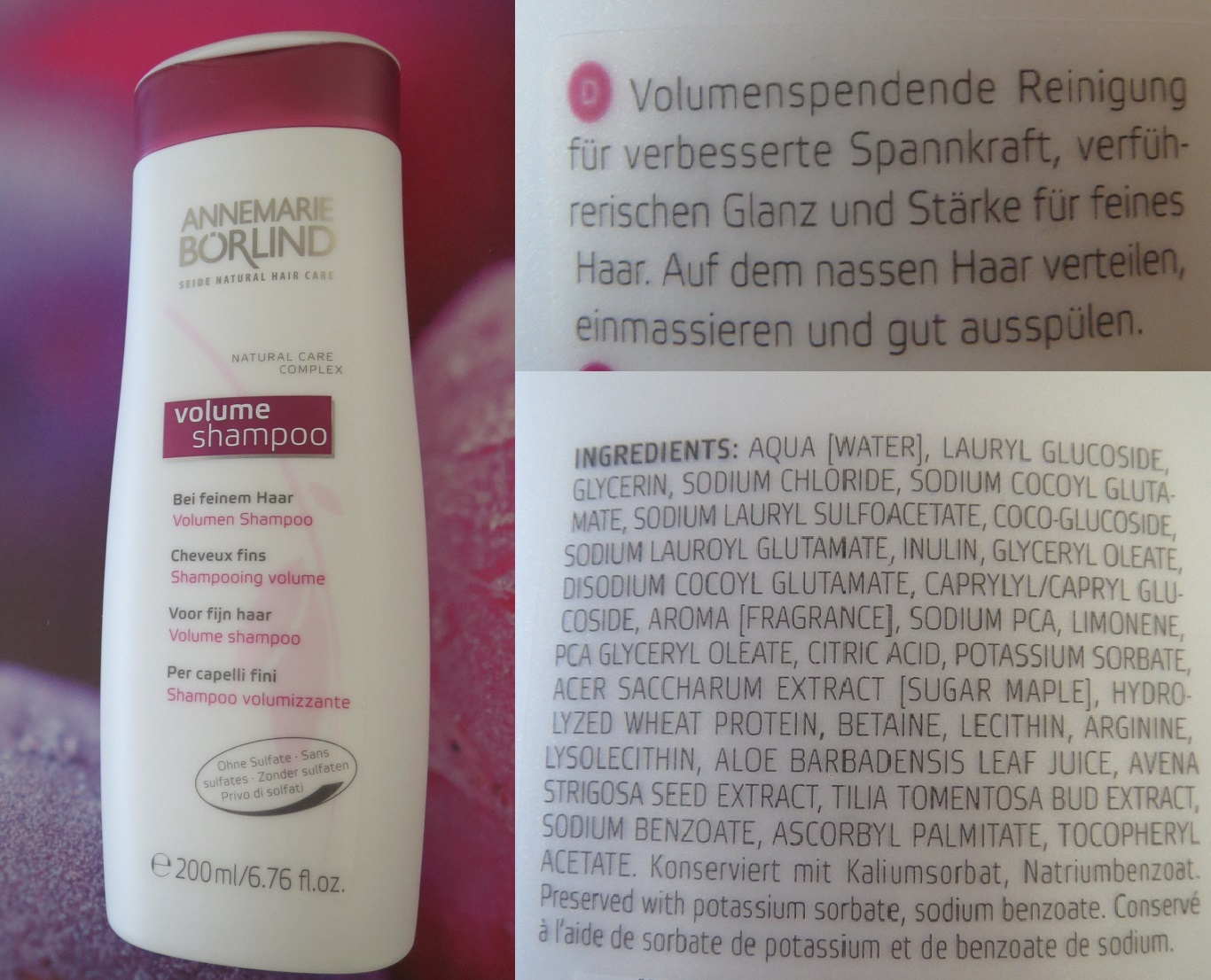 Review Annemarie Börlind Volume Shampoo Babsis Beauty Gossip