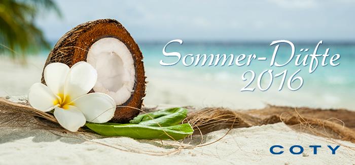 Die COTY Sommerdüfte 2016 – Exotische Frische auf der Haut