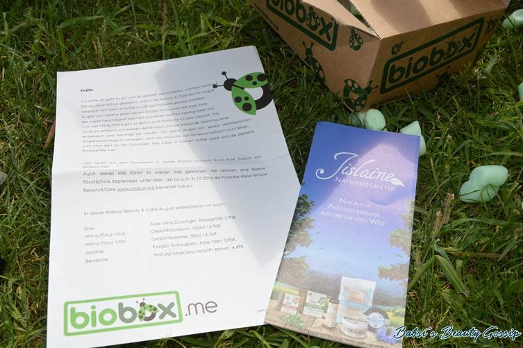 Postbild Biobox Beauty